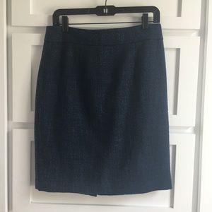 Banana Republic Blue Black Pencil Skirt